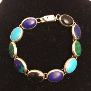 Jewelry - Genuine 925 sterling silver bracelet w/stones